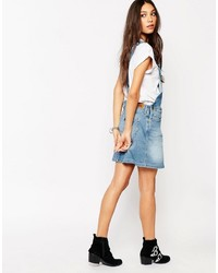 d3444bca3fe ... Blue Denim Overall Dresses Lee Bib Mini Overall Dress Lee Bib Mini  Overall Dress ...