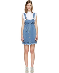 Sjyp Blue Denim Button Dress