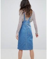 Daisy Street Button Up Overall Dress
