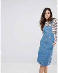 Daisy Street Button Up Overall Dress