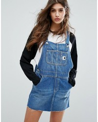 Carhartt Wip Charlotte Overall Dress With Raw Hem