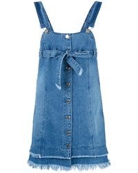 Sjyp Denim Overall Dress
