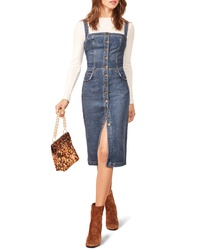 Reformation Denim Overall Dress