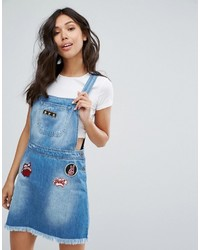 Kubban Patch Detail Overall Dress