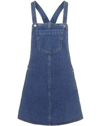 Topshop Moto Denim Pocket Pinafore Dress