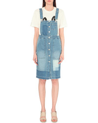mo&co. Overall Denim Dress