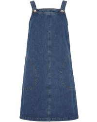 Dorothy Perkins Tall Midwash Denim Pinafore Dress
