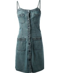 Chanel Vintage Denim Pinafore Dress