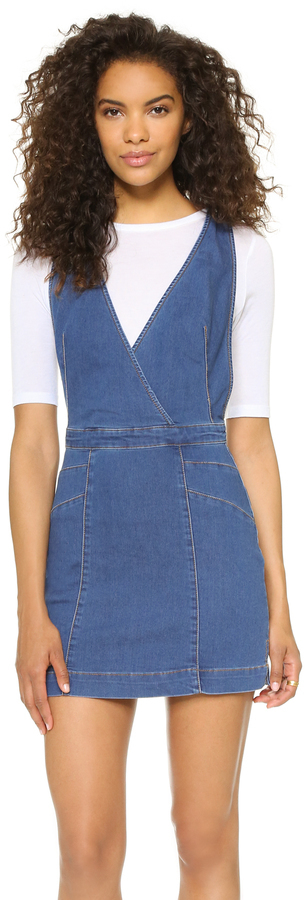 f357b9c7889 ... Denim Overall Dresses Free People Xx Mini Dress ...