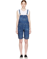 Levi's Vintage Clothing Blue Bib And Brace Youth Wear Short Overalls