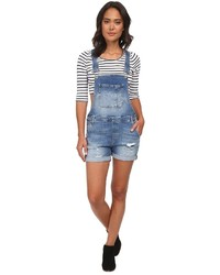 Mavi Jeans Wanda Denim Shortall In Light Used Vintage