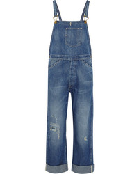 Levi's Bib And Brace Distressed Denim Overalls Vintage Clothing
