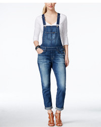 Big Star Cropped Maracaibo Wash Denim Overalls