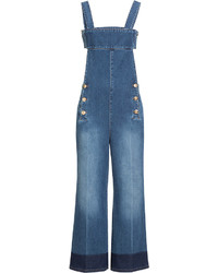 Sonia Rykiel Denim Overalls With Cut Out Back
