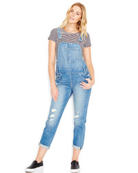 Levi's Distressed Denim Overalls Overlook Wash