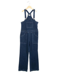 Stella McCartney Girls Medium Wash Denim Overalls