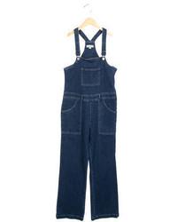 Stella McCartney Girls Medium Wash Denim Overalls