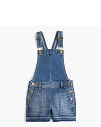 J.Crew Girls Stretch Denim Shortalls