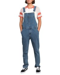 RVCA Meril Straight Denim Overalls