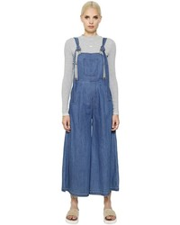 Stevej yonip maxi cotton denim overall jumpsuit medium 657869