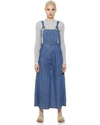 Stevej yonip maxi cotton denim overall jumpsuit medium 657869