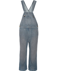 The Great The Shop Denim Overalls Mid Denim