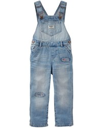Osh Kosh Toddler Girl Oshkosh Bgosh Floral Patched Denim Overalls