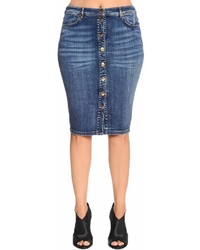 Marina Rinaldi Cotton Denim Pencil Skirt