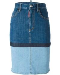 Dsquared2 Panelled Denim Skirt