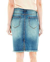 bc5b0ff85cb1 ... Joe Fresh Fray Hem Denim Skirt