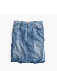 J.Crew Frayed Denim Pencil Skirt