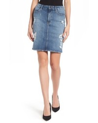 High waist denim pencil skirt medium 4953476