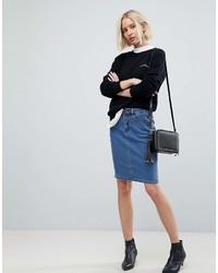 Vero Moda High Waist Denim Pencil Skirt