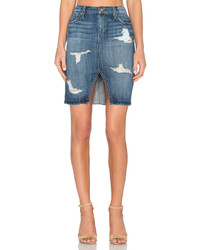 Joe's Jeans Kumi Collectors Edition Cut Off Slit Pencil Skirt