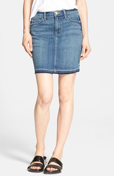 Current/Elliott The Skinny Mini Denim Skirt | Where to buy & how ...