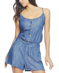 Chambray v neck tank romper medium 53698