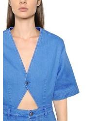 f8dc78a040de8 Stella McCartney Cotton Denim Romper, $975 | LUISAVIAROMA ...