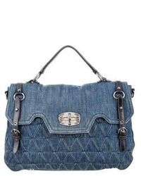 Miu Miu Quilted Denim Paloma Bag