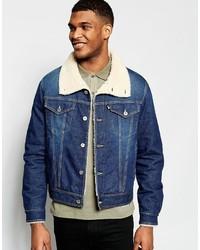 Love Moschino Denim Jacket Shearling Collar