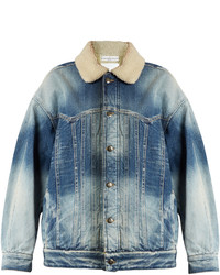 Golden Goose Deluxe Brand Kinney Shearling Lined Denim Jacket