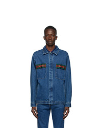 Gucci Blue Denim Stone Wash Jacket