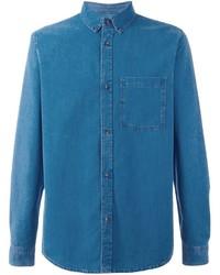 A.P.C. Denim Button Down Shirt