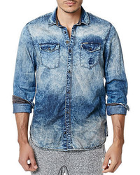 Buffalo David Bitton Acid Wash Denim Sportshirt