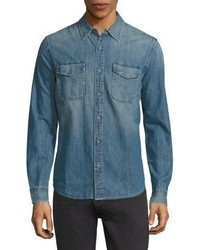 AG Jeans Ag Benning Denim Regular Fit Shirt