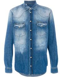 Dolce & Gabbana Bleached Denim Shirt