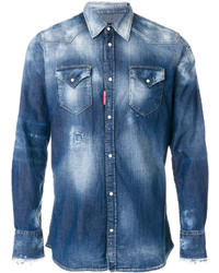 Bleached denim shirt medium 5144466