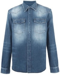 Maison Margiela Bleached Effect Denim Shirt