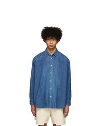 Kuro Blue Denim Big Shirt