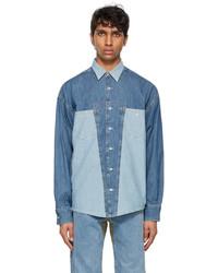 Diesel Blue Denim D4d Shirt