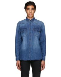 Hugo Blue Denim Elpaz Shirt